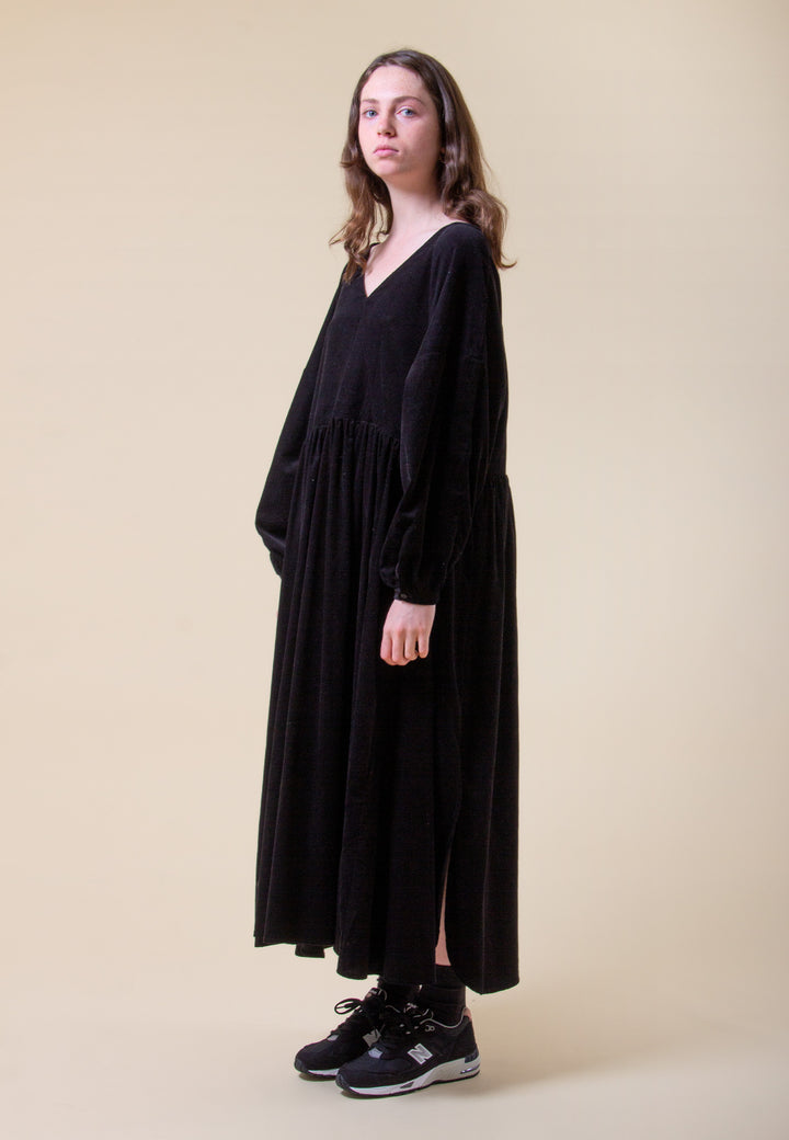 Atlas Dress - black cord