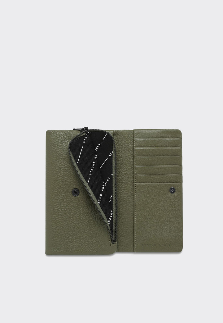 Audrey Wallet - khaki pebble