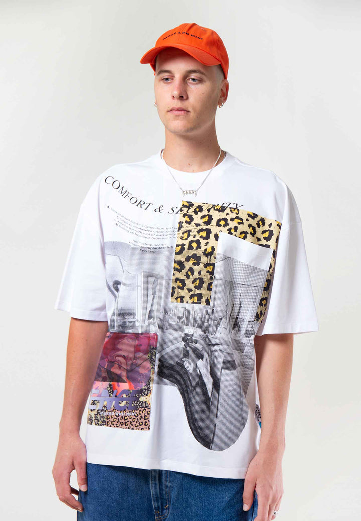 Boxed Animal Oversized T-Shirt - multi