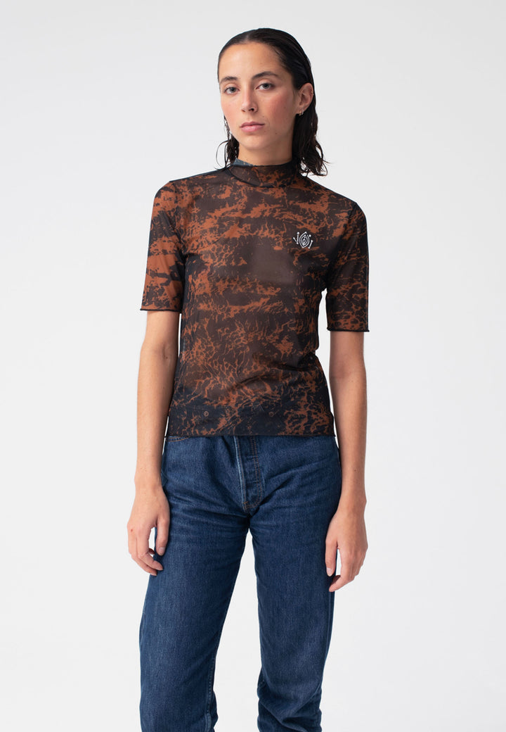 Mesh Of Desire T-Shirt - leopard
