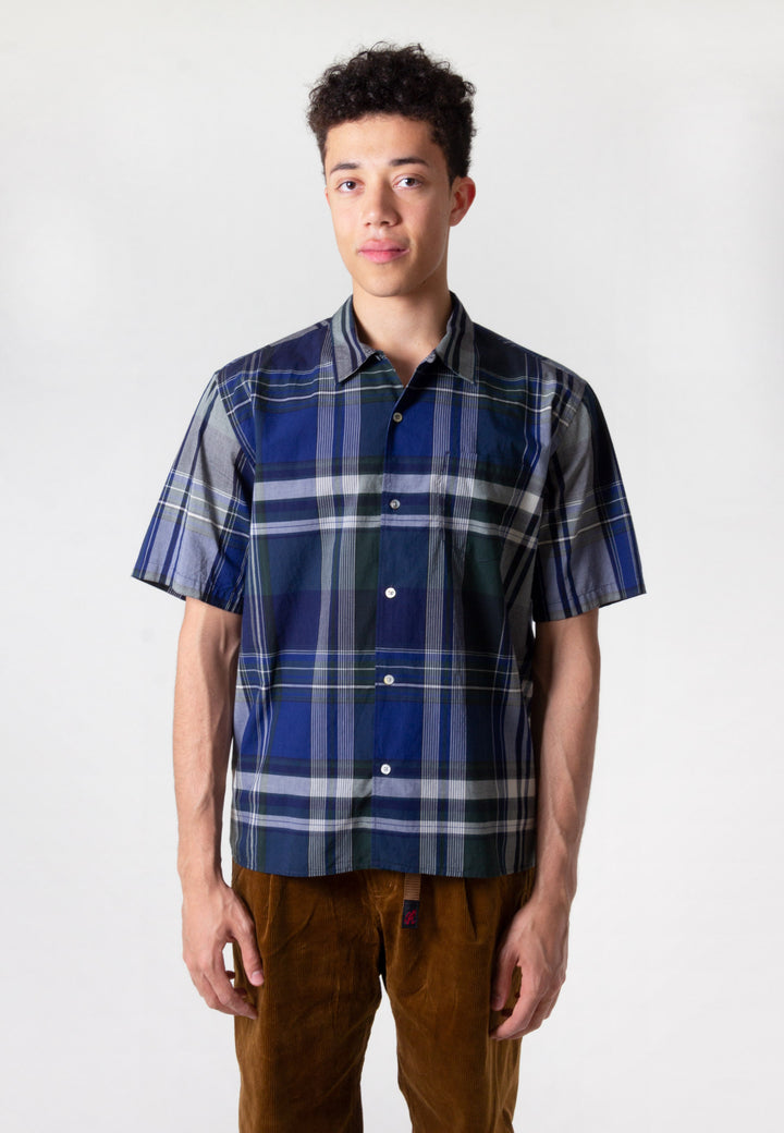 Carsten Madras Shirt - dark navy
