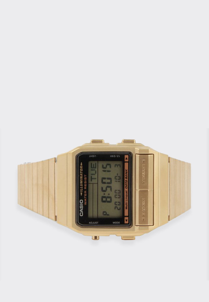 Classic Databank Watch (DB380G-1D) - gold