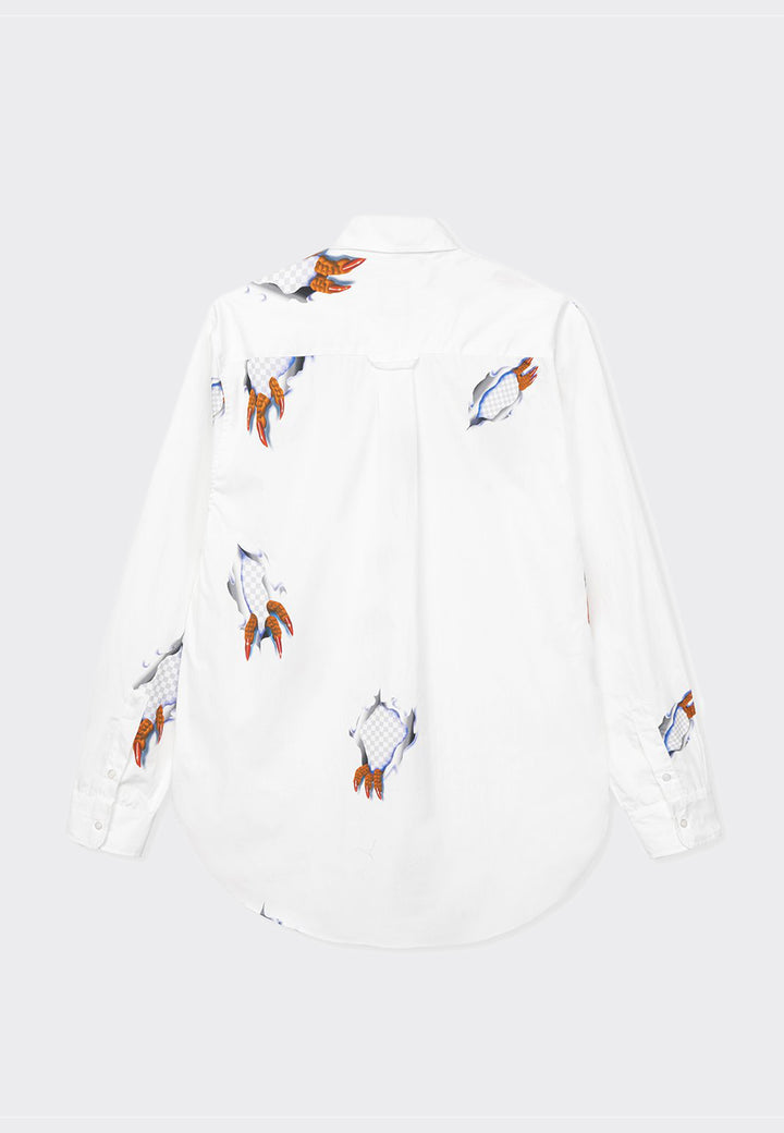Claw Button Up Shirt - white