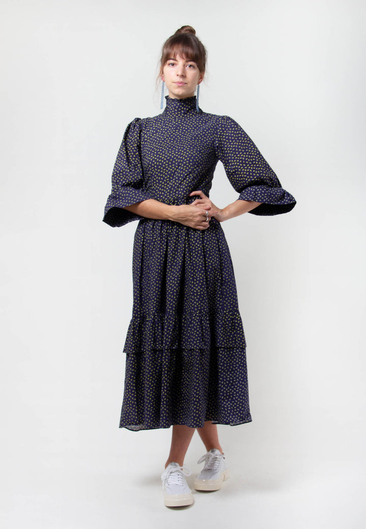 Clematis Dress - navy