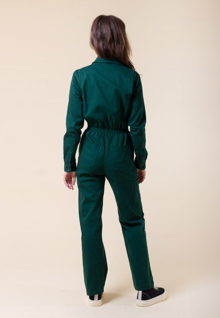Danny Longsleeve Boilersuit - forest green
