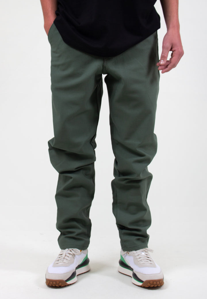 Easy Chino - olive sateen