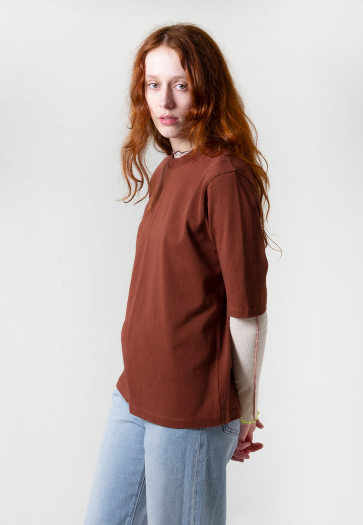 Ginny Heavy Jersey T-Shirt - madder brown