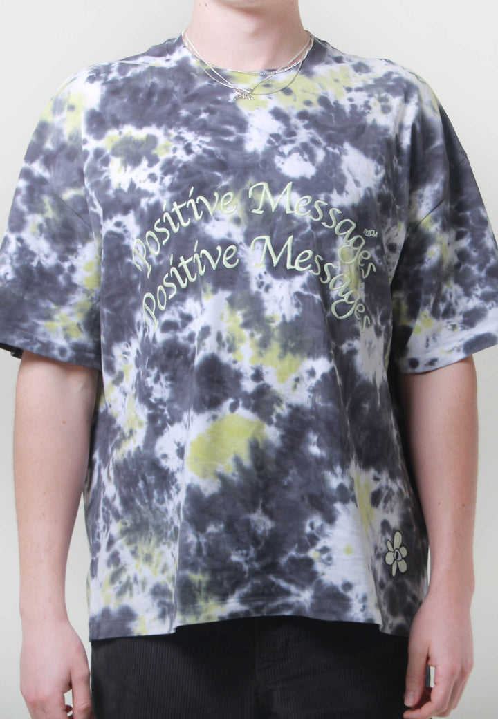 Haze Filter Tie Dye Oversized T-Shirt - swamp tie die