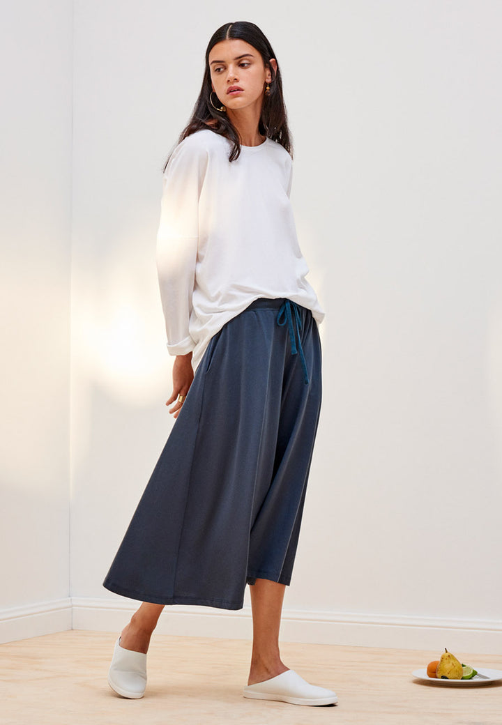Kowtow Building Block Culottes - dark teal – Good as Gold
