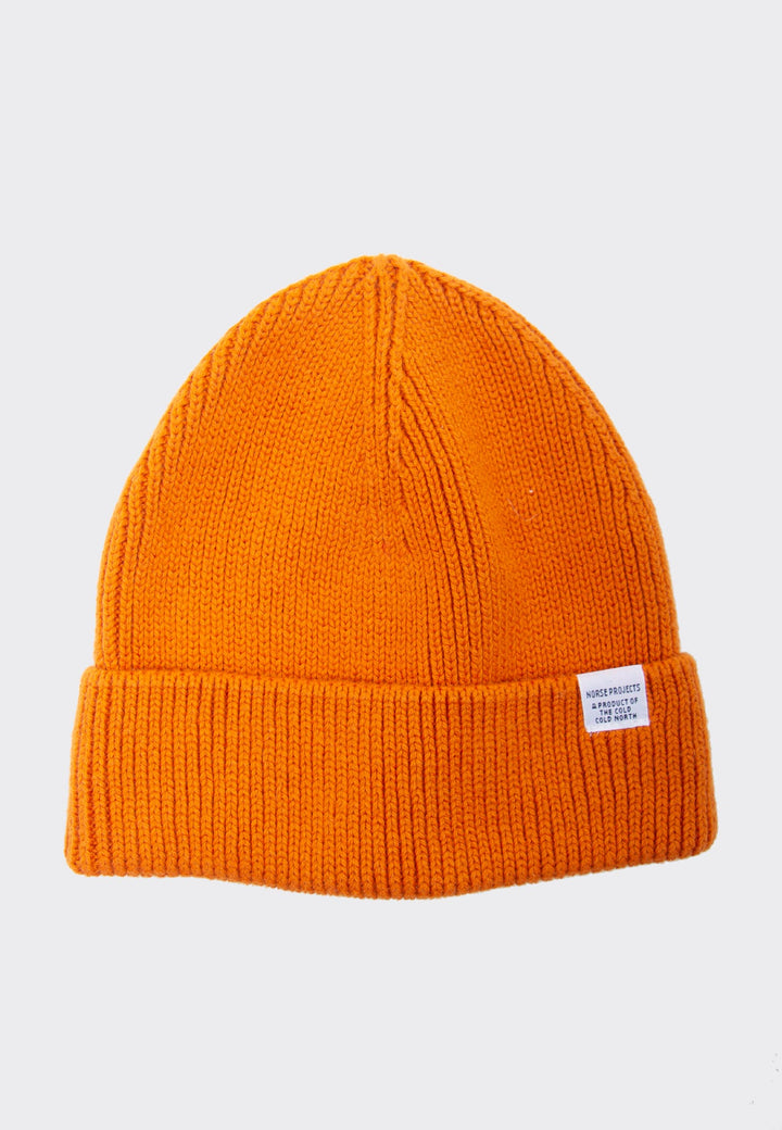 Norse Short Beanie -  golden orange
