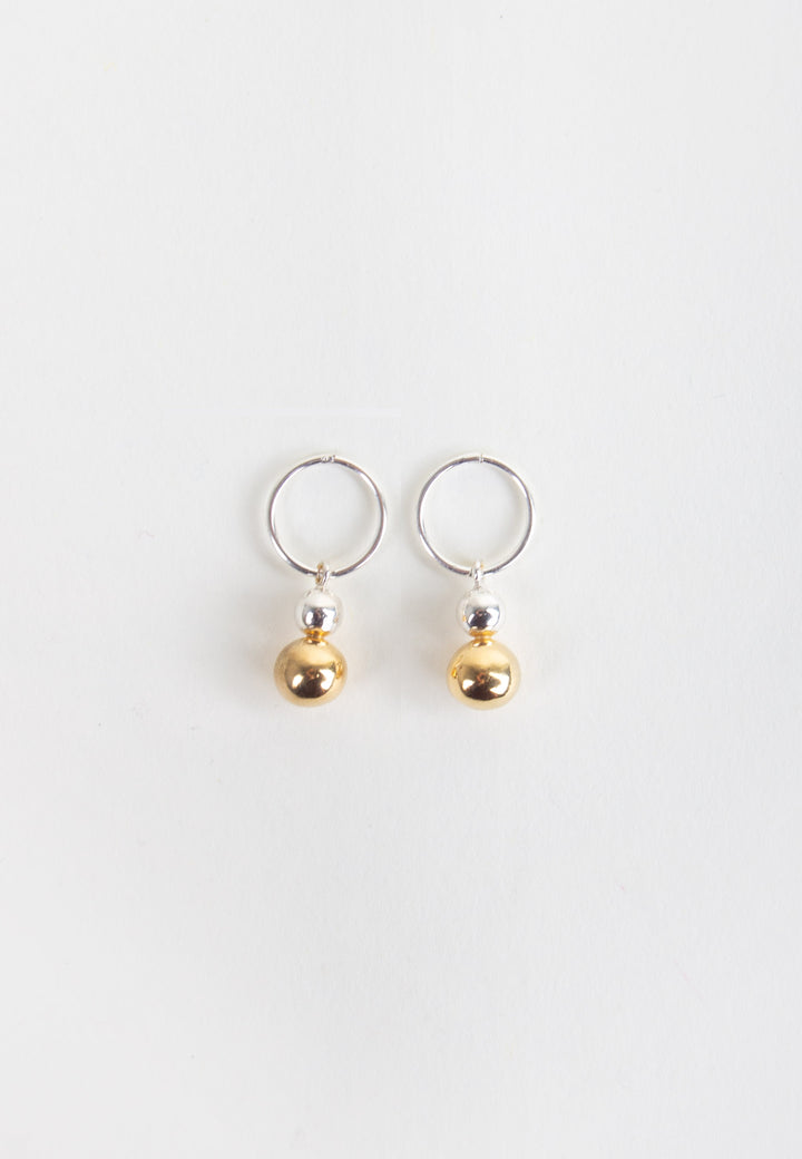 Opulence Earrings - half gold/silver