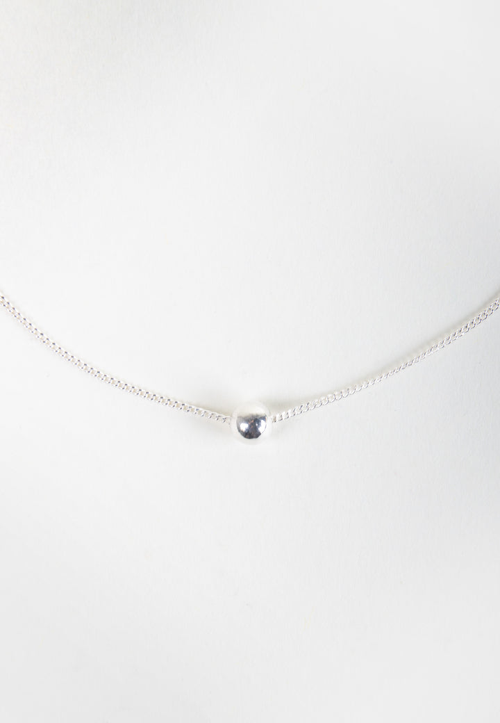 Tiny Orb Necklace - silver