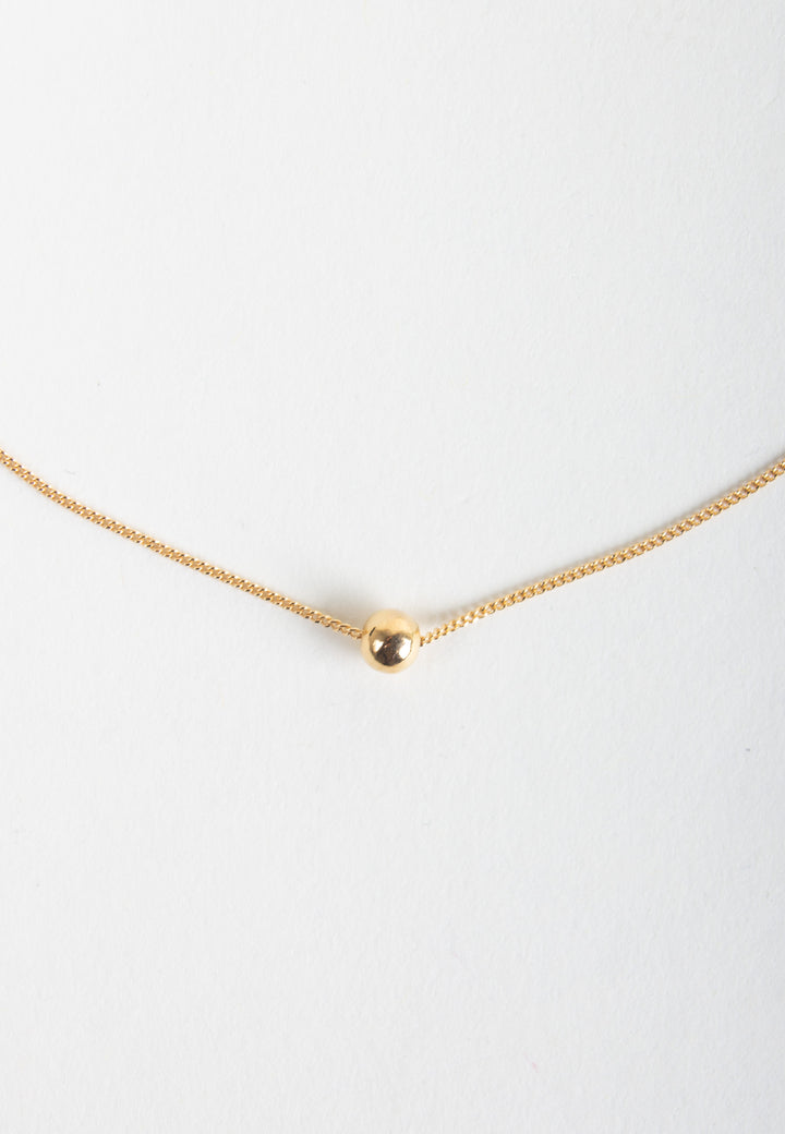 Tiny Orb Necklace - gold