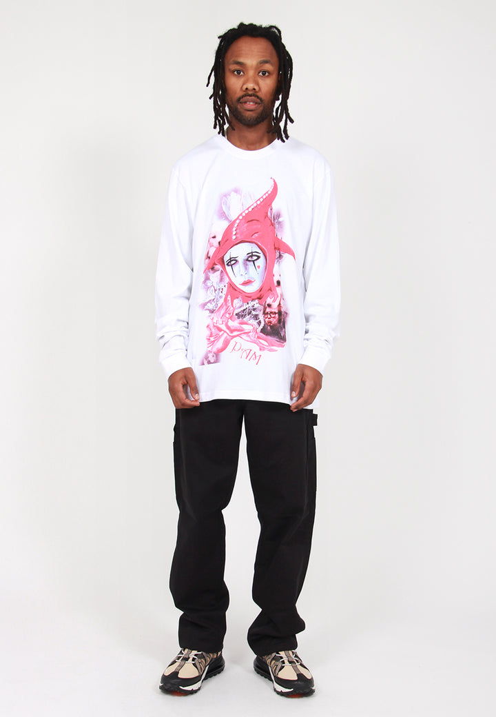 Playing The Fool Long Sleeve T-Shirt - white