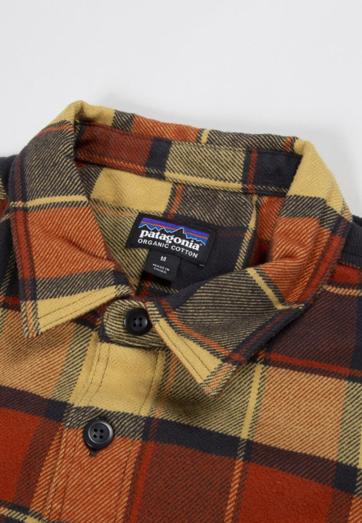 Fjord Flannel Shirt - plots burnished red