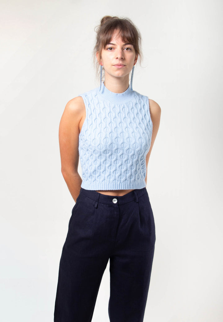 Pertti Knit - blue