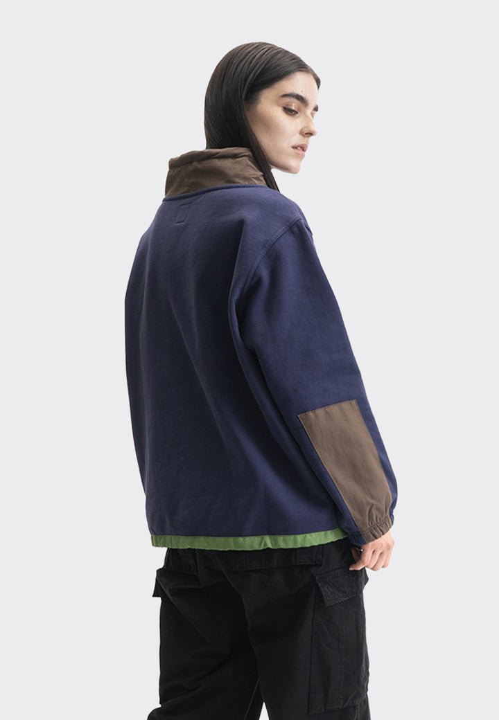 Post Earth Syndrome Scuba Neck Fleece - navy