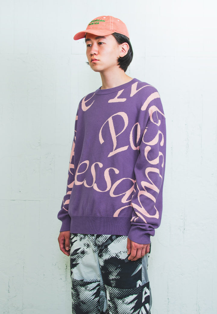 Poz Mez Poz Mez Intarsia Knit - grape