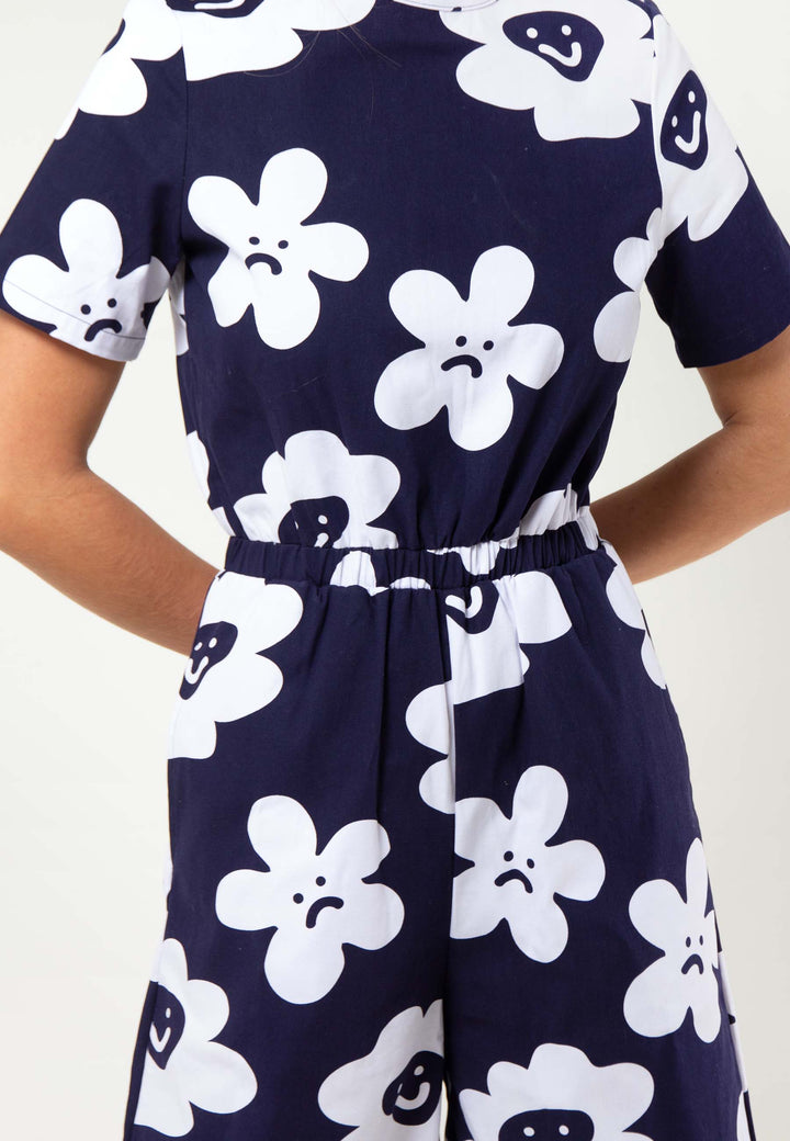 Pushing Daisies Jumpsuit - navy