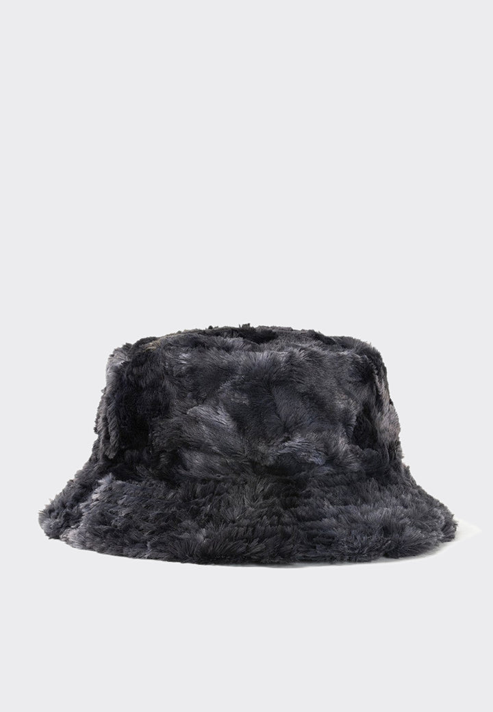 Reversible Sunflower Bucket Hat - charcoal