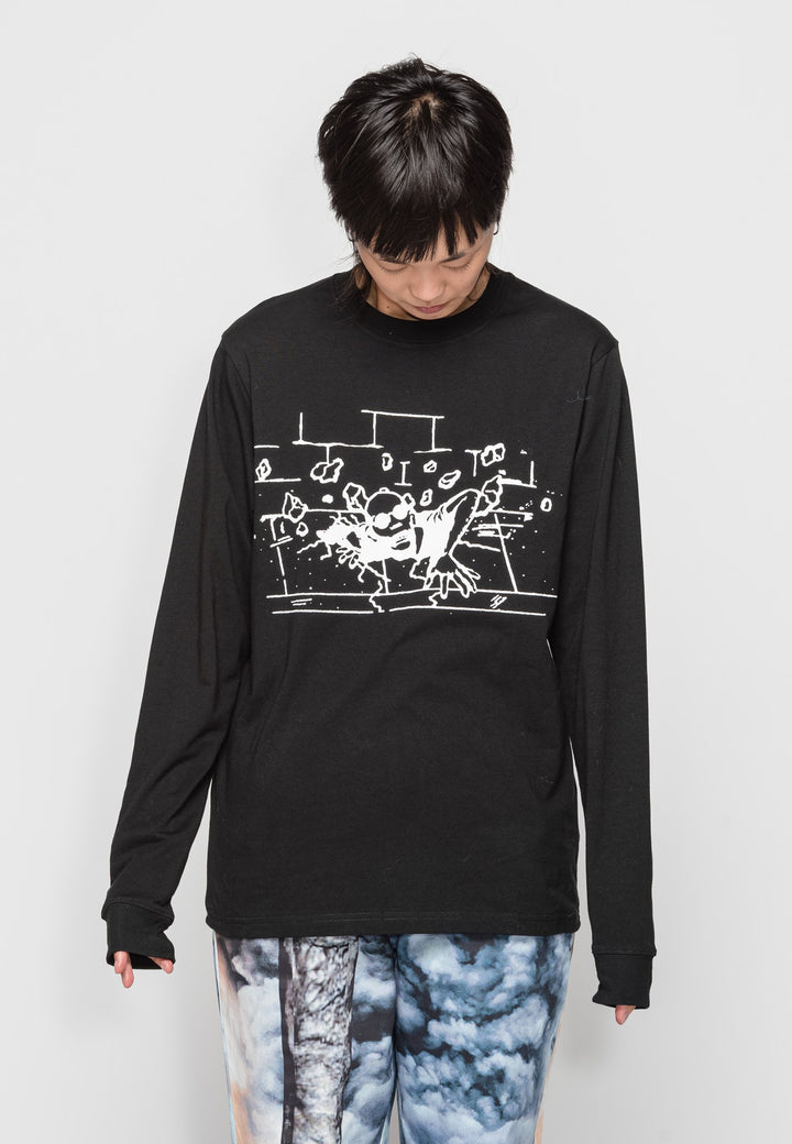 Rise Up Long Sleeve T-Shirt - black