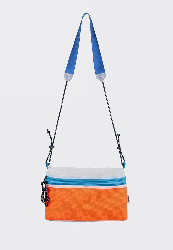 Sacoche Bag Large - orange/white/teal