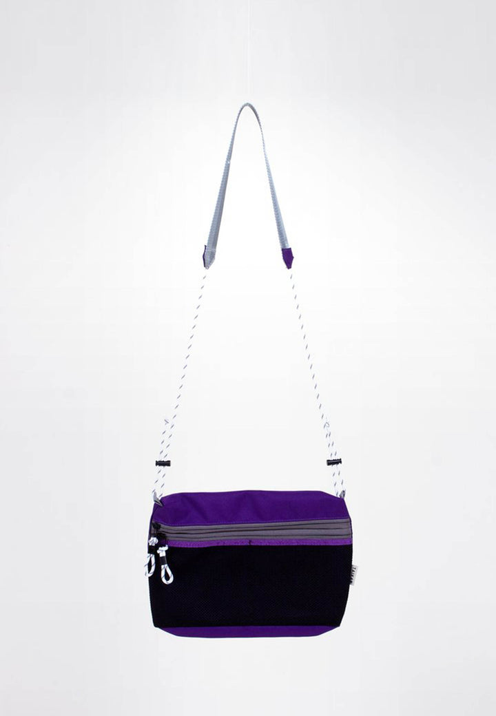 Sacoche Bag Small - purple/black mesh