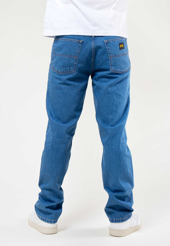 Straight Leg 12.5oz - stonewash denim