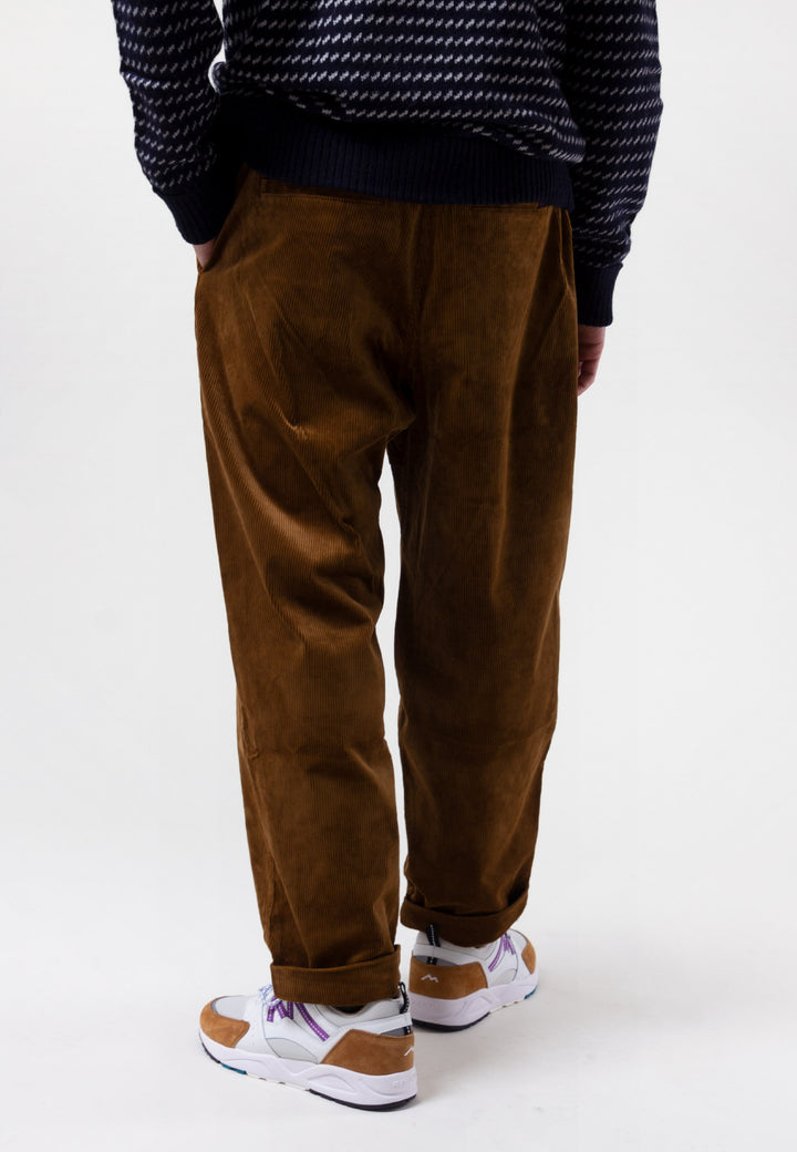 Tuck Tapered Pants Corduroy - camel