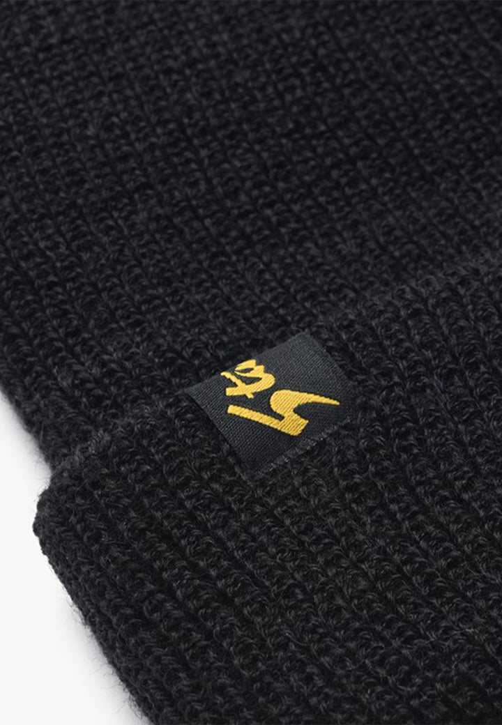 Watchcap Beanie - black wool