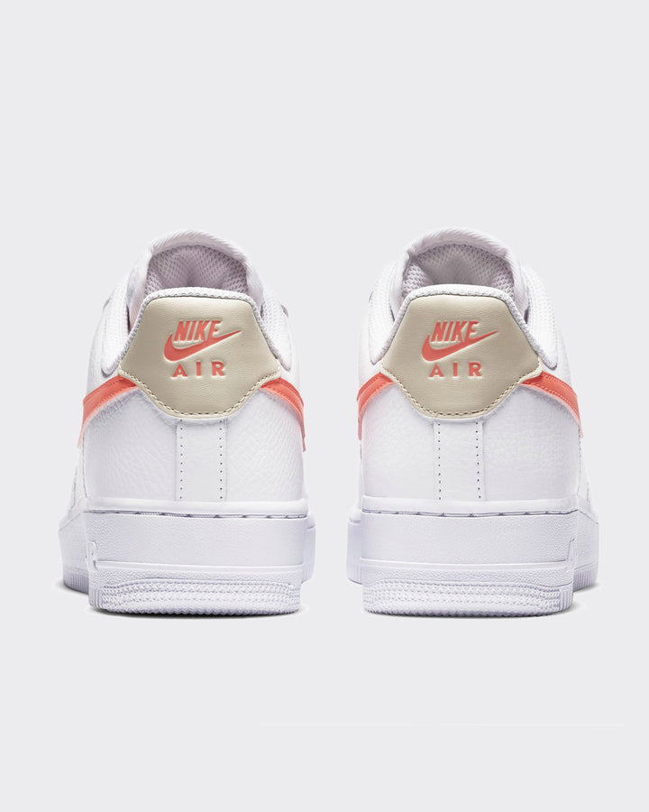 Womens Air Force 1 '07 - white/atomic pink/fossil white