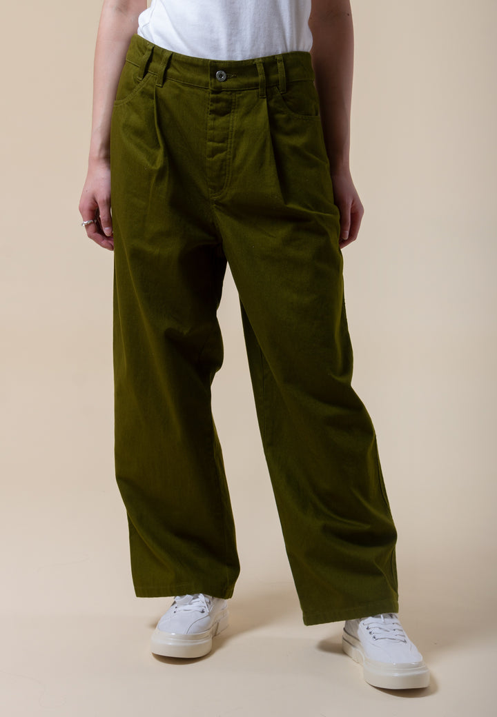 Worker Jeans - olive denim