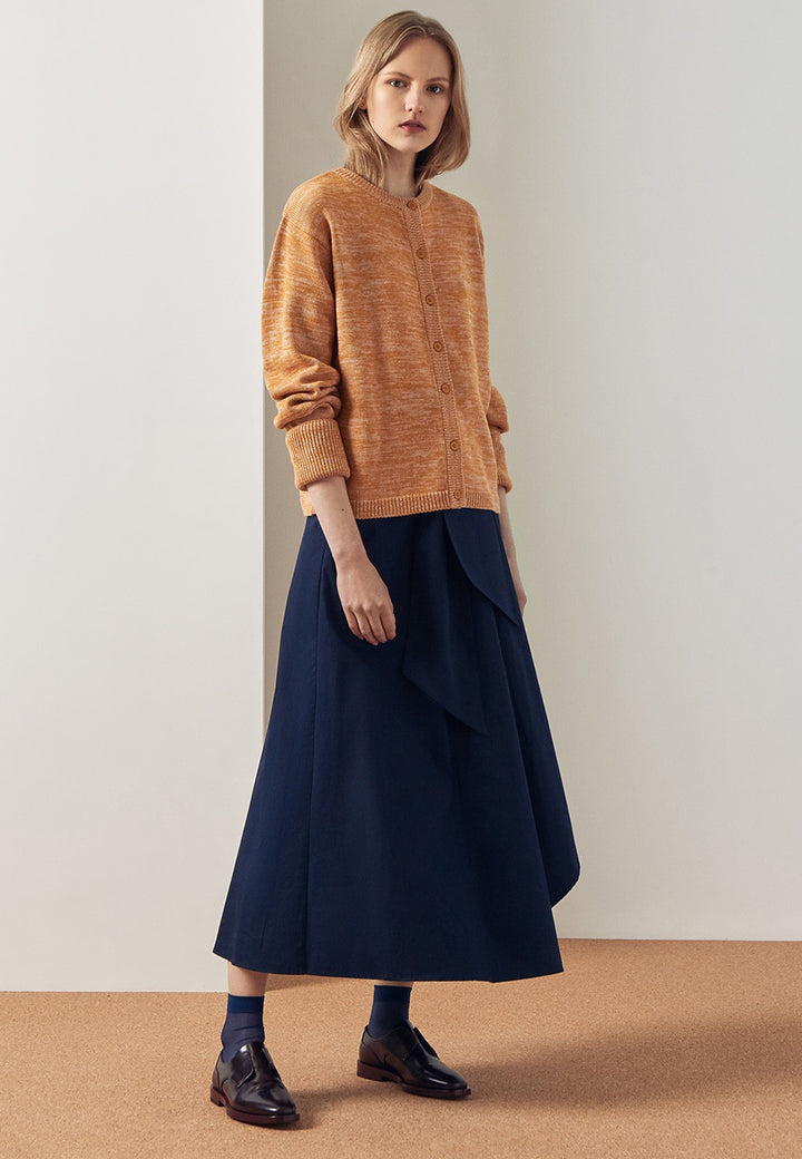 Kowtow Horizon Cardigan - amber melange - Good As Gold