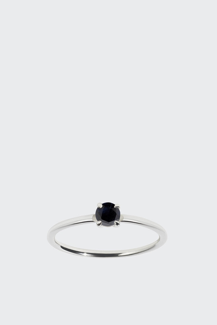 Meadowlark Micro Round Ring - silver/midnight sapphire | GOOD AS GOLD | NZ