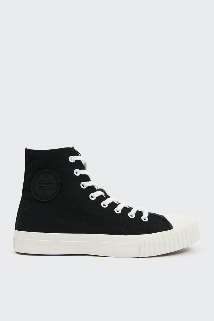Bata Bullets High Cut Canvas - black/white | GOOD AS GOLD | NZ