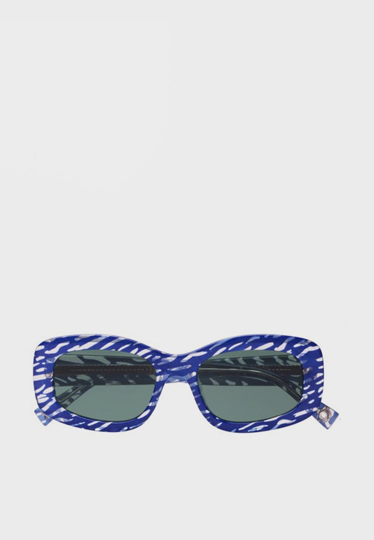 X Double Rainbouu Five Star Sunglasses - blue ripple