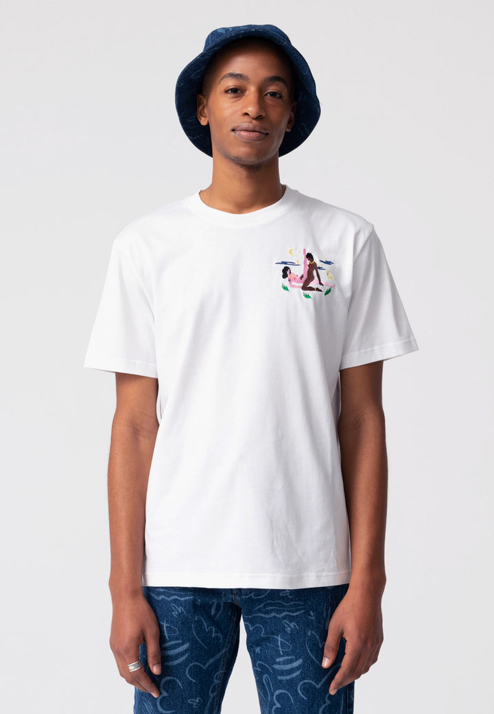 The Night Scissor T-Shirt - white