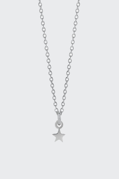 Meadowlark Micro Star Charm Necklace - silver | GOOD AS GOLD | NZ