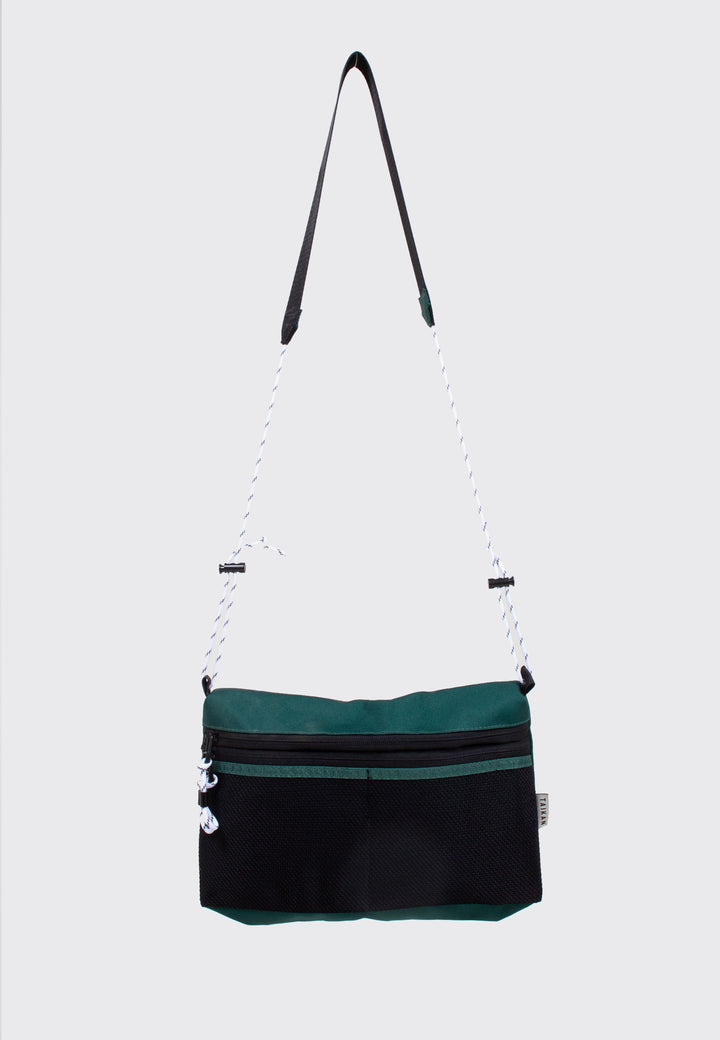 Sacoche Bag Large - green/black mesh