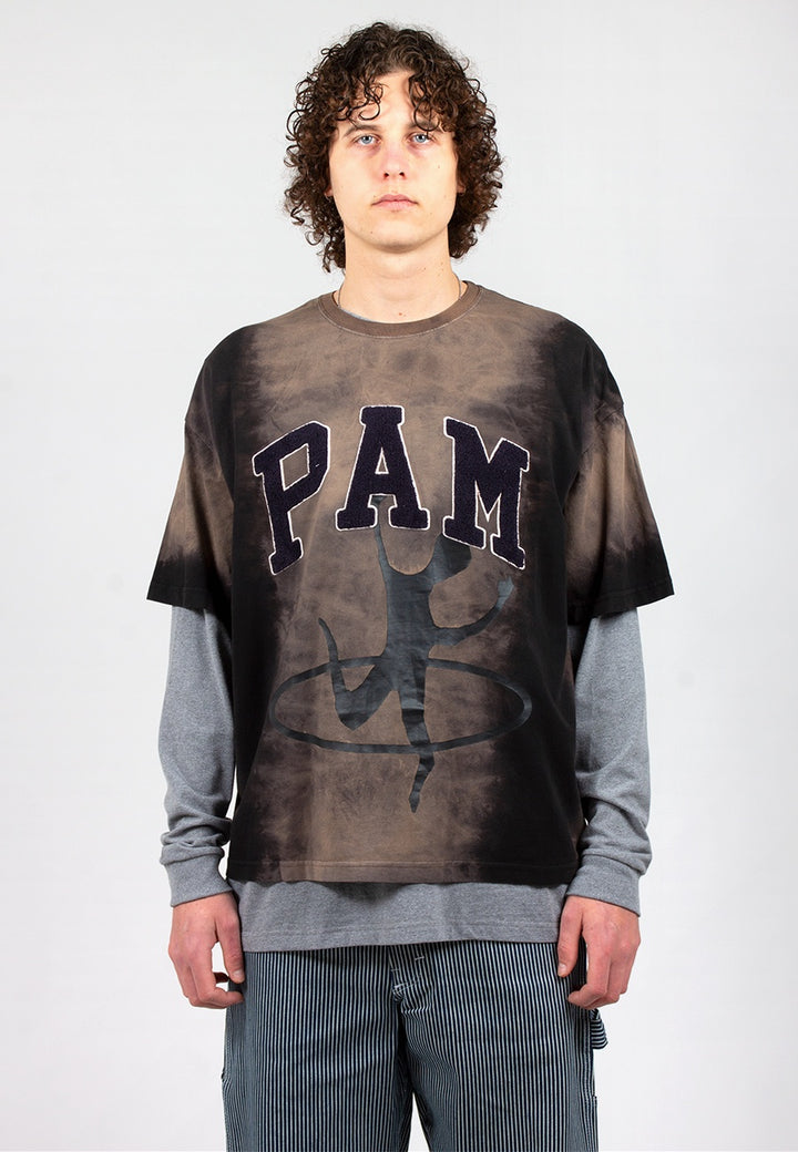 Perks & Mini | Disc Man Tie Die T-Shirt - rust dye | Good As Gold, NZ