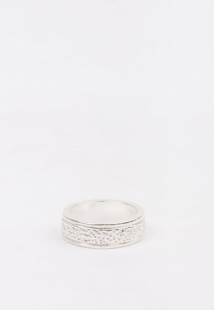 Dot Band Ring - silver