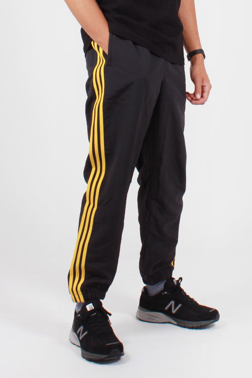 Adidas Originals Woven 3 Stripe Pant - black/gold — Good as Gold