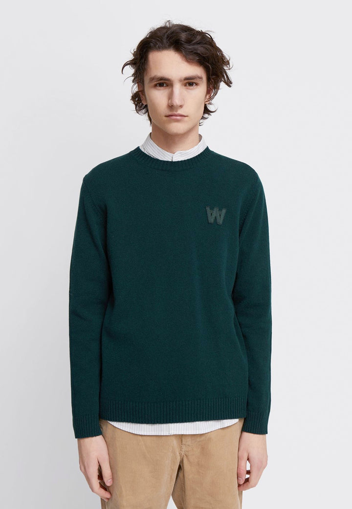 Kevin Lambswool Jumper - dark green