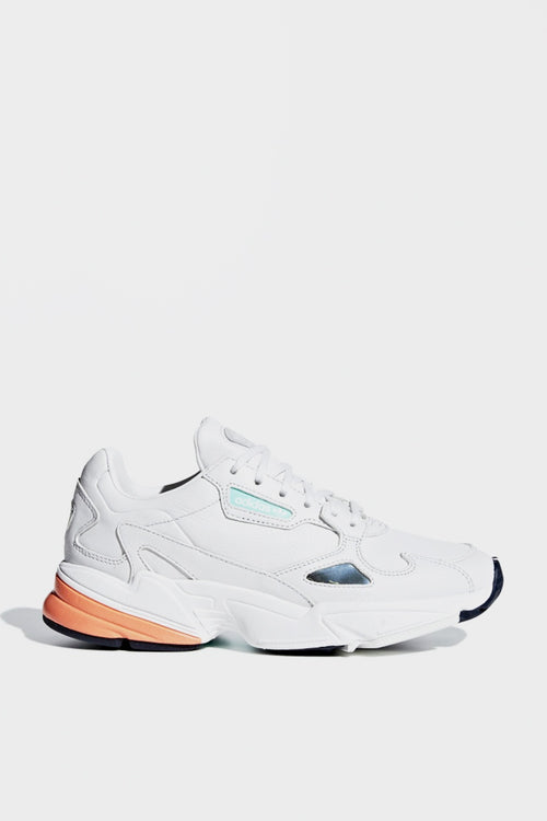 Adidas Womens Falcon - crystal white/easy orange - Good As Gold