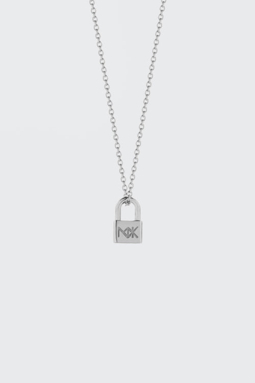 Meadowlark Lock Charm Necklace - silver - Good As Gold
