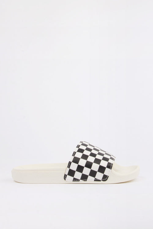Vans Womens Slide On - white/black – Good as Gold