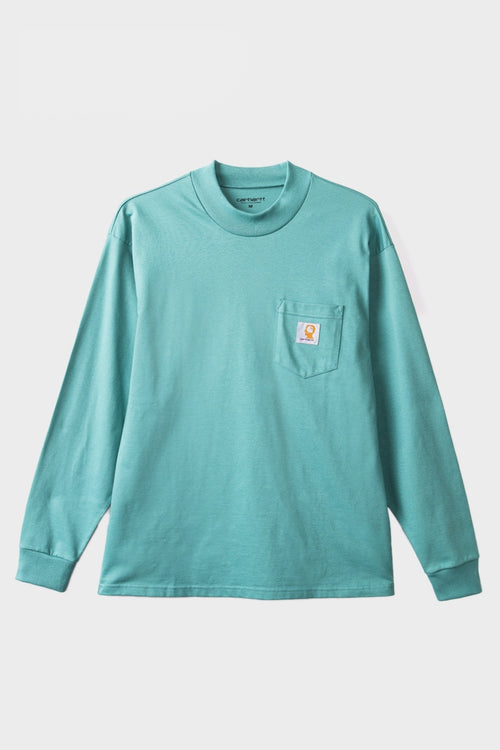 Brain Dead X Carhartt Swan Long Sleeve T-Shirt - dead ocean - Good as Gold