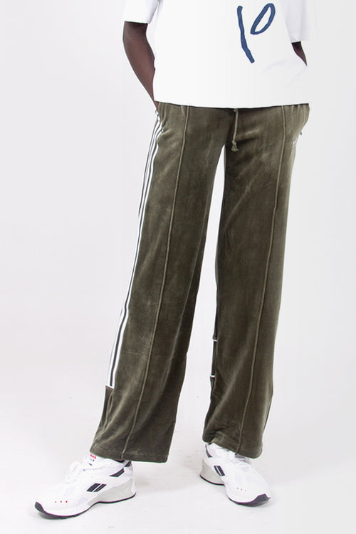 Velour Track Pants - green