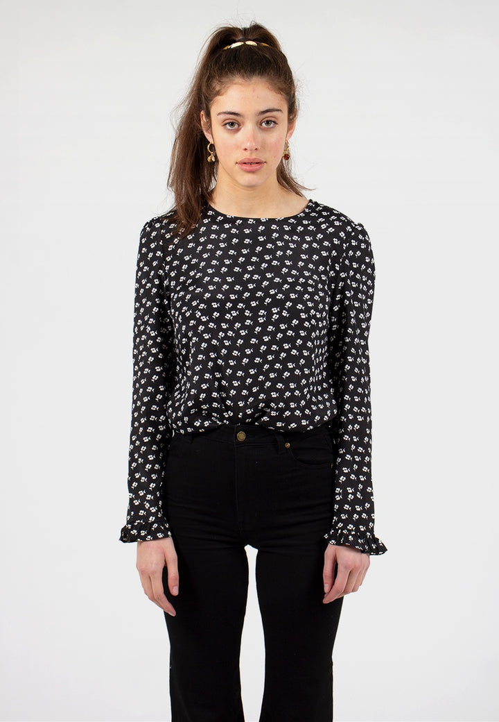 The Fifth Label | Kaleidoscope Long Sleeve Top - black floral | Good As Gold, NZ