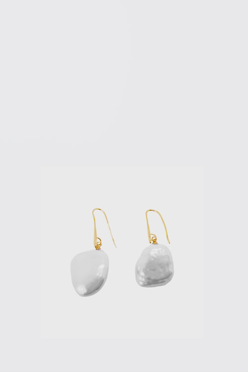 WOS Big Pearl Earrings - gold/pearl - Good As Gold